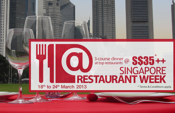Singapore Restaurant Week 2013 - 18 to 24 March